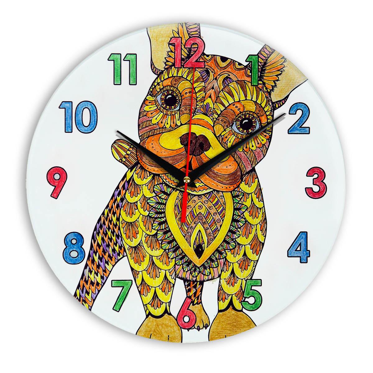 """Часы раскраска для детей """"Собака лучший друг"""" - купить ..."""