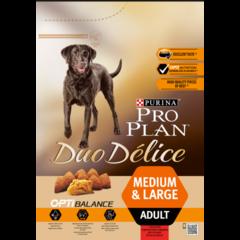 Сухой корм для взрослых собак, Purina Pro Plan  DuoDelice, крупных и средних пород, с говядиной и рисом