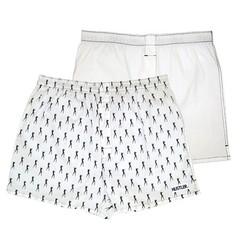 Мужские хлопковые трусы-шорты HUSTLER белые и с танцовщицами