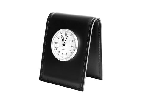 Часы с циферблатом Buvardo из кожи цвет ЧЕРНЫЙ