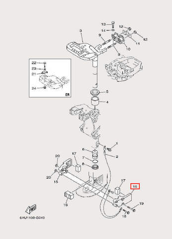 Кронштейн фиксации для лодочного мотора F9,9 Sea-PRO (22-15)