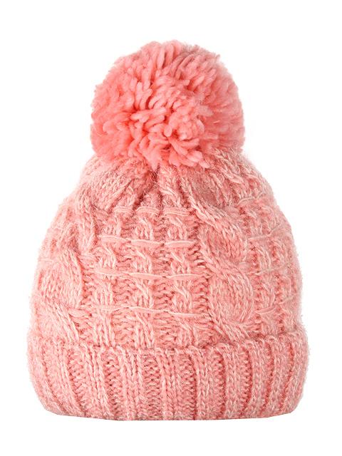 HT1801-3 шапка женская, розовая