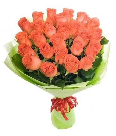 Букет 15 местных коралловых роз