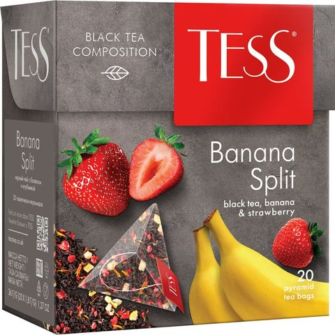 "Чай черный ""Tess"" Banana split 20 пирамидок"