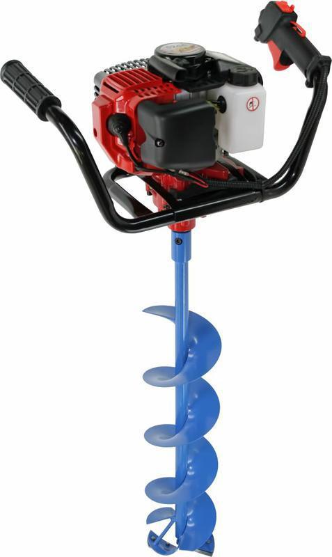 Мотобур DDE IceD-52-200 ледобур (двухтактный 52 куб.см., 1,8 кВт, редукция 25:1, 9,0 кг, макс. ф = 200 мм), без шнека