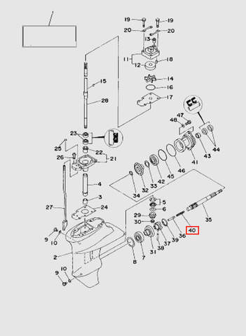 Пружина компрессионная  для лодочного мотора T15, OTH 9,9 SEA-PRO (16-40)