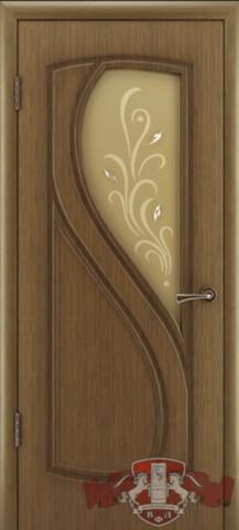 Дверь Владимирская фабрика дверей 10ДО3, цвет орех, остекленная