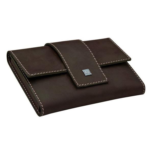 Маникюрный набор Erbe, 7 предметов, цвет коричневый, кожаный футляр