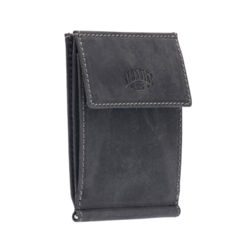 Кожаный бумажник с зажимом для денег Klondike 1896 «Yukon black», Germany, фото 4