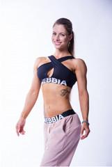 Женский топ Nebbia crossed sports bra 622 black