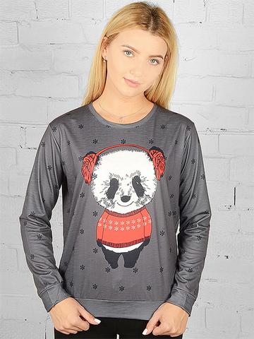 K039-14 футболка женская дл. рукав, темно-серая