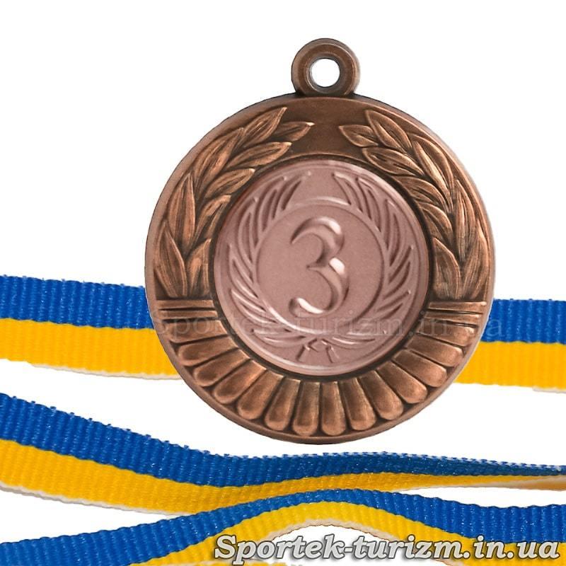 Бронзовая медаль за 3 место  диаметром 40 мм