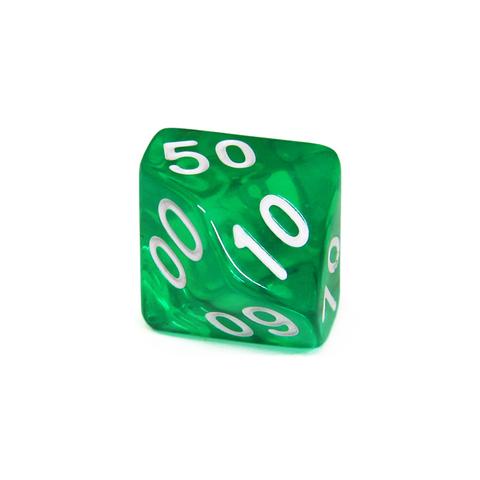 Куб D% прозрачный: Зеленый