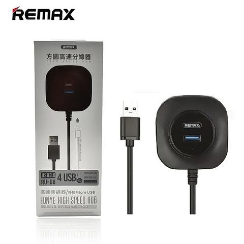 Концентратор USB-HUB Remax RU-U8 Fonye High Speed (USB 3.0) black