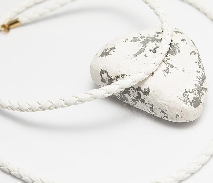 Pokrovsky, Белый плетеный шнурок из искусственной кожи премиум (55 см)