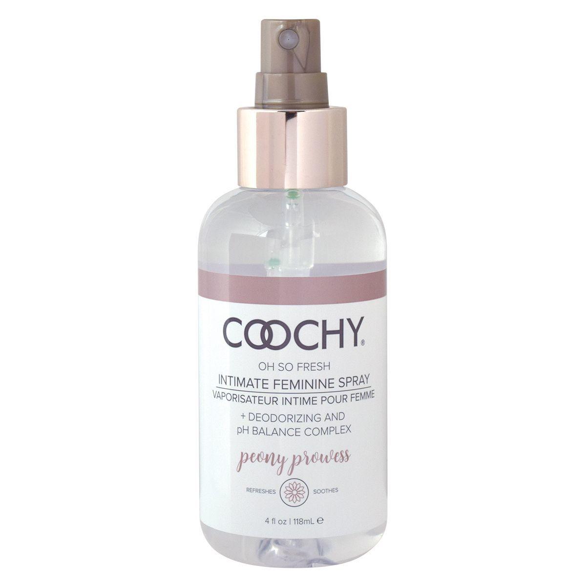 Интимная гигиена: Ухаживающий женский спрей для зоны бикини COOCHY Peony Prowess - 118 мл.