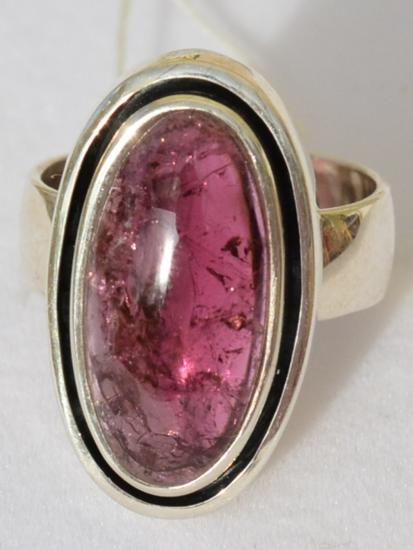 Турмалин (кольцо серебряное )