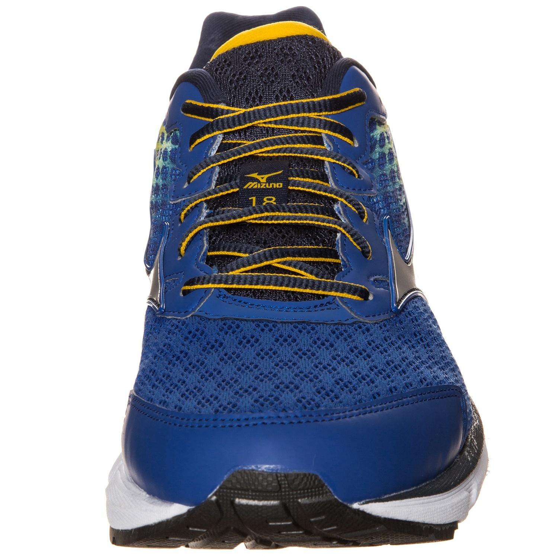 Мужские беговые кроссовки  Mizuno Wave Rider 18 (J1GC1503 04) синие