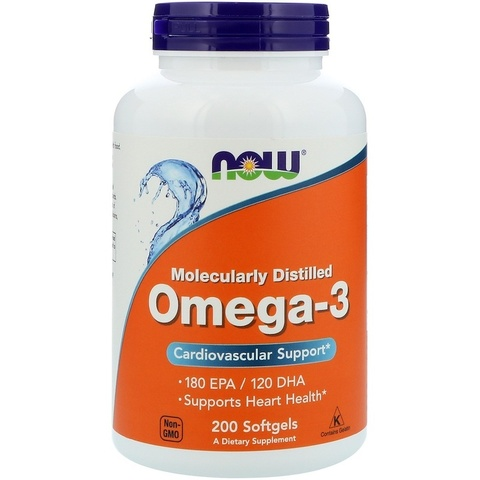 NOW Omega-3, 200 caps.
