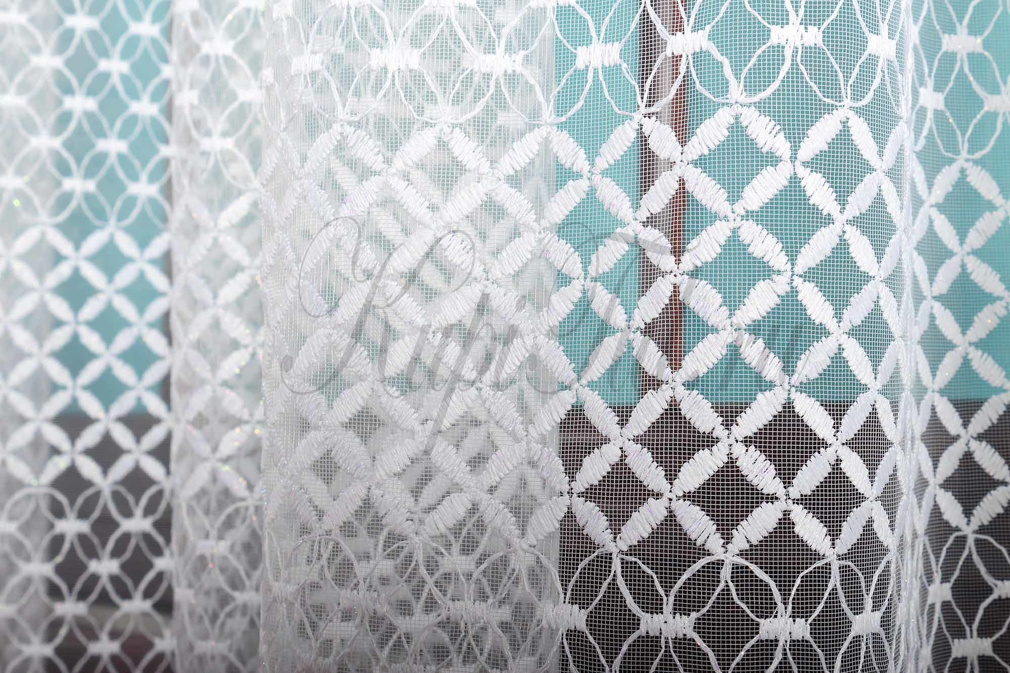 Микросетка с вышивкой Марта (белая)
