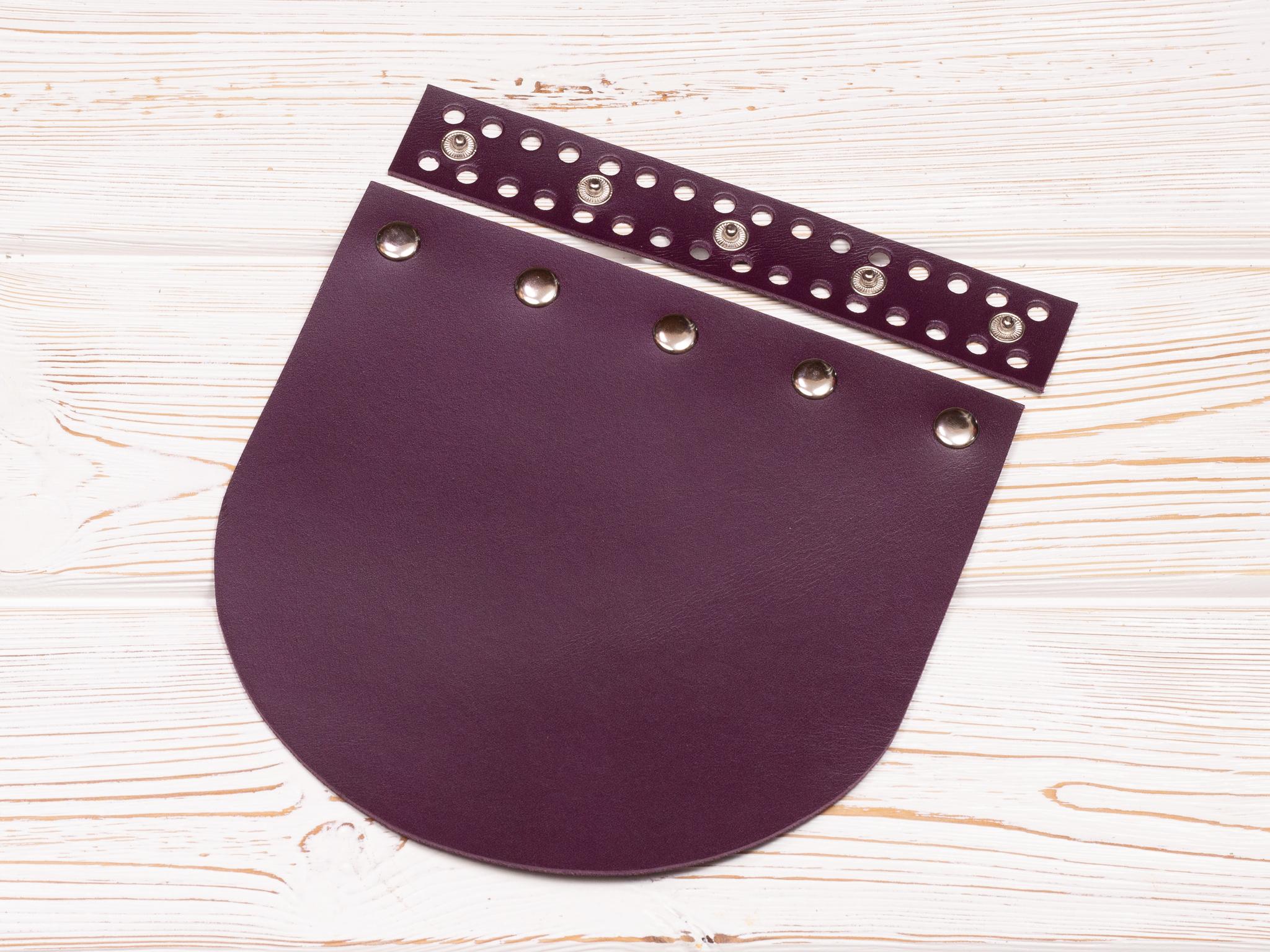 """Вся фурнитура Клапан для сумочки кожаный на заклепках """"Марсала"""" IMG_2378.jpg"""