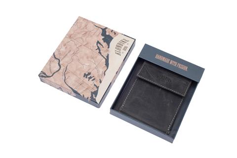 Кожаный бумажник с зажимом для денег Klondike 1896 «Yukon black», Germany, фото 5