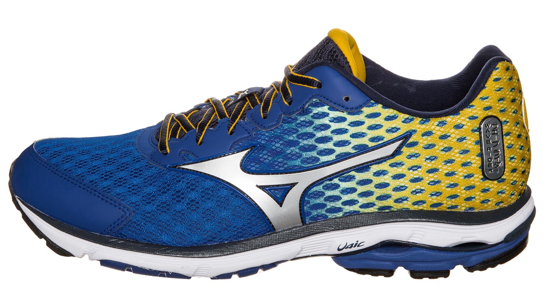 Мужские беговые кроссовки  Mizuno Wave Rider 18 (J1GC1503 04) синие фото слева