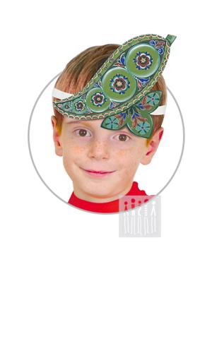 Фото Головной убор - маска Горошек с Шенкурской росписью рисунок Маски для детского сада: для театрализованных и подвижных игр. Эти уникальные  маски ободки станут незаменимым, а подчас - и единственным элементом костюма!
