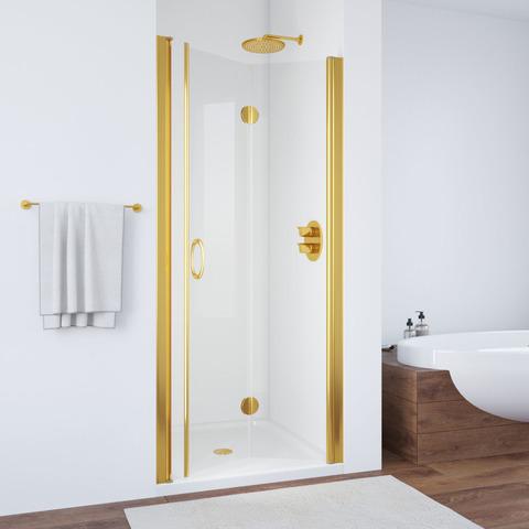 Дверь в душевой проем Vegas Glass GPS профиль золото, стекло прозрачное