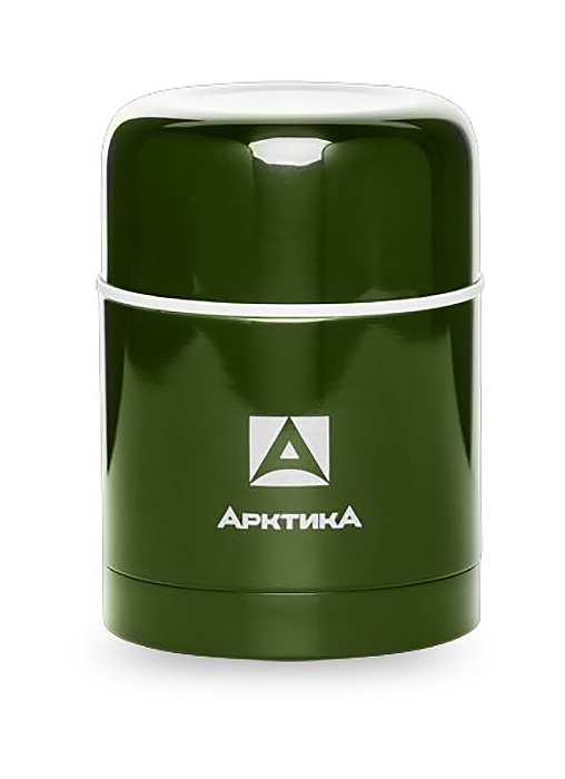 Термос для еды Арктика (0,5 литра) с супер-широким горлом, болотный*