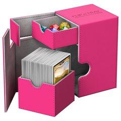 Ultimate Guard - Кожаная розовая коробочка с отделением для кубиков на 100+ карт