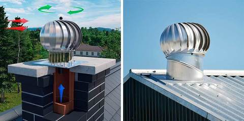 Турбодефлектор крышный d120мм оцинкованный