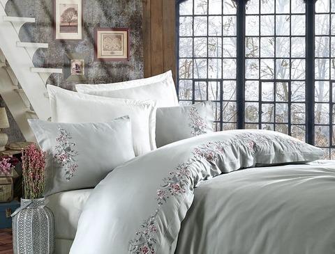 Комплект постельного белья DANTELA VITA сатин с вышивкой 2 спальный (Евро) EFSA