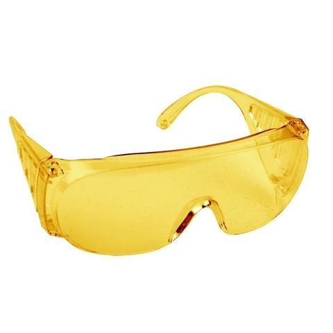Очки защитные открытого типа, желтые, с боковой вентиляцией, DEXX.