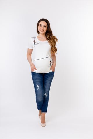 Блузка для беременных 08828 белый