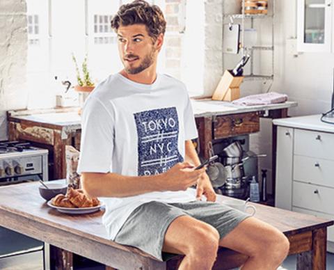 Комплект мужской футболка+шорты
