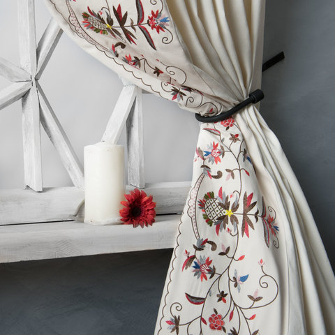 Комплект штор Дебби белый