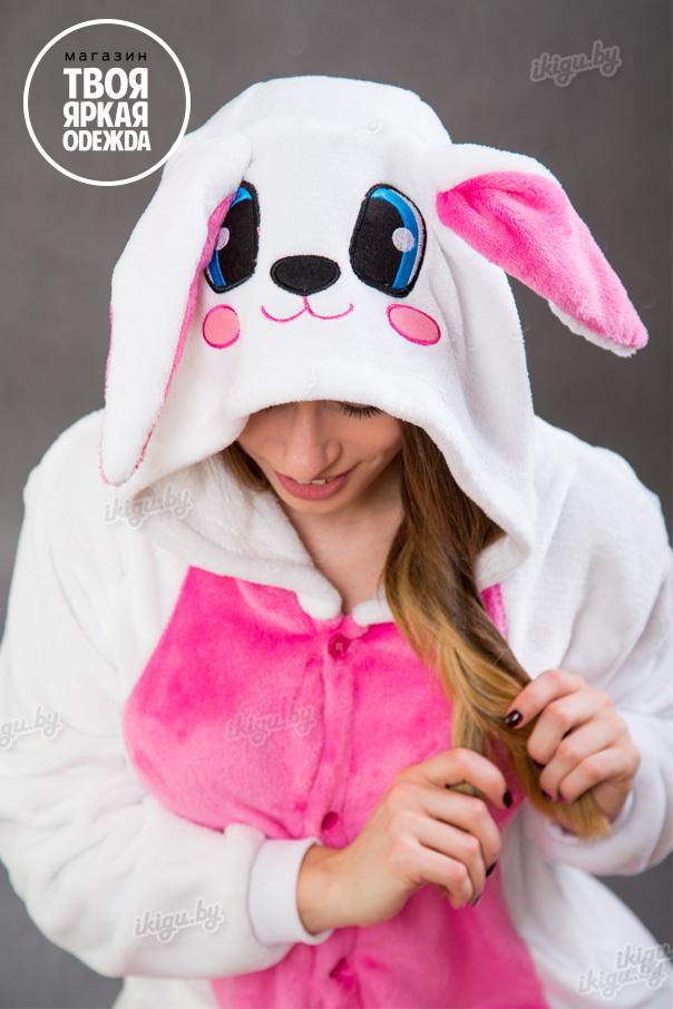 """Детские пижамы кигуруми """"Заяц Бело - Розовый"""" zaiz_belo-roz.jpg"""