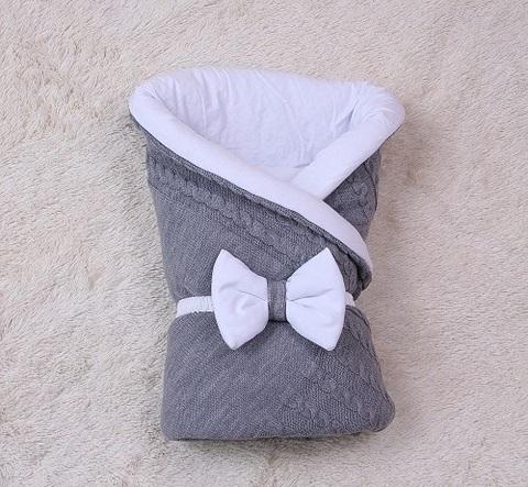 Демисезонный конверт на выписку новорожденных Глория (серый)