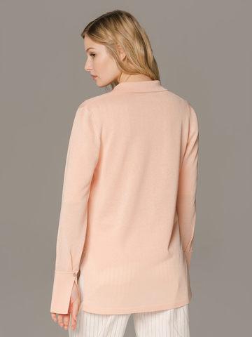 Женский джемпер персикового цвета на пуговицах - фото 2