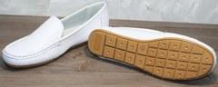 Женские мокасины кожа AESD 902 White