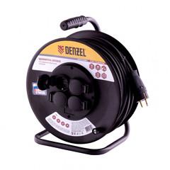 Удлинитель силовой на стальной катушке DENZEL КГ 3 х 1,5 мм