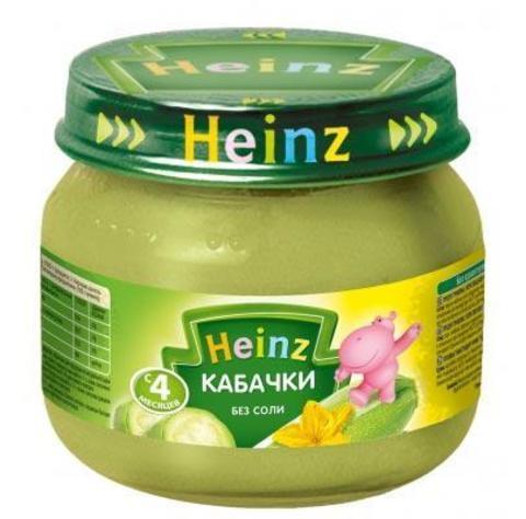 Heinz Пюре Кабачки 80 г с 4мес