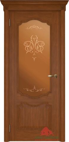 Дверь Двери Белоруссии Престиж ПО, цвет каштан, остекленная