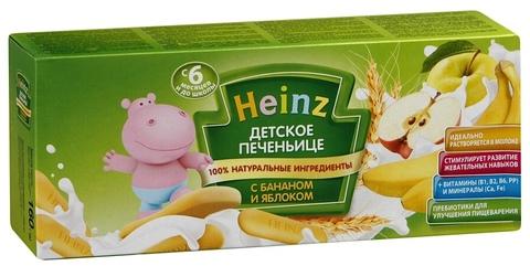Печенье Heinz c яблоком и бананом 160 гр