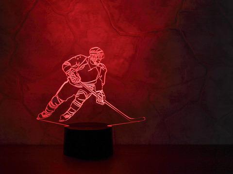 3D светильник Хоккеист - Нападающий