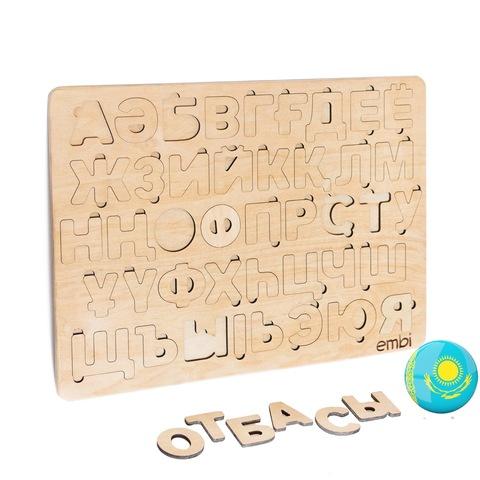 Деревянная азбука казахский язык (размер макси)
