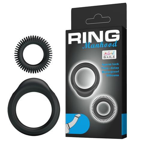 Набор эрекционных колец - Baile Ring Manhood (1,9 и 3,3 см)
