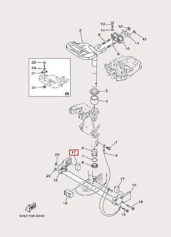 Демпфер для лодочного мотора F9,9 Sea-PRO (22-17)