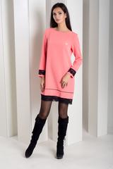 Шарлота. Красива сукня з мереживом. Коралл